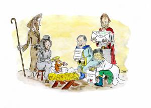 Die Weihnachtsgeschichte aus Galoppersicht...©miro-cartoon